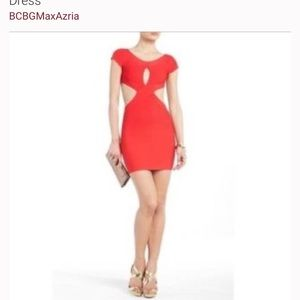 Lipstick red BCBG bandage dress!